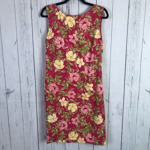 Tommy Bahama | pink floral 100% silk dress